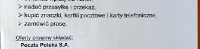 Współpraca z Pocztą Polską