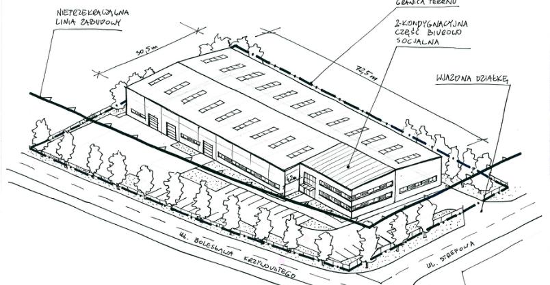 Miasto pracuje nad projektem hali produkcyjnej pod wynajem. Pytają o nią inwestorzy