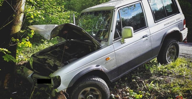 Wypadek na mokrej jezdni
