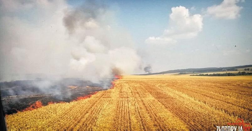 Paliły się kolejne pola