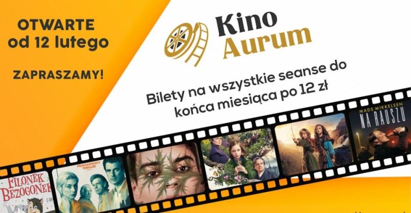 Kino Aurum rusza z seansami. Promocyjne ceny do końca miesiąca